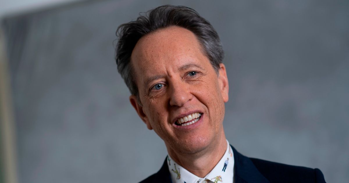 Richard E Grant can't believe his luck as he attends the