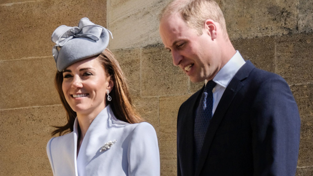 Kate Middleton Stuns In Blue Coat & Dress For Easter On